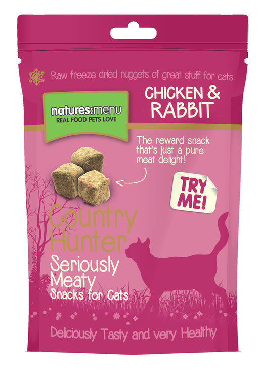 Natures Menu Country Hunter Freeze-Dried Rabbit & Chicken Cat Treats - 40g