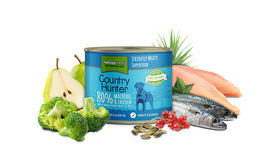 Natures Menu Country Hunter Meals Mackerel & Chicken Can - 600g