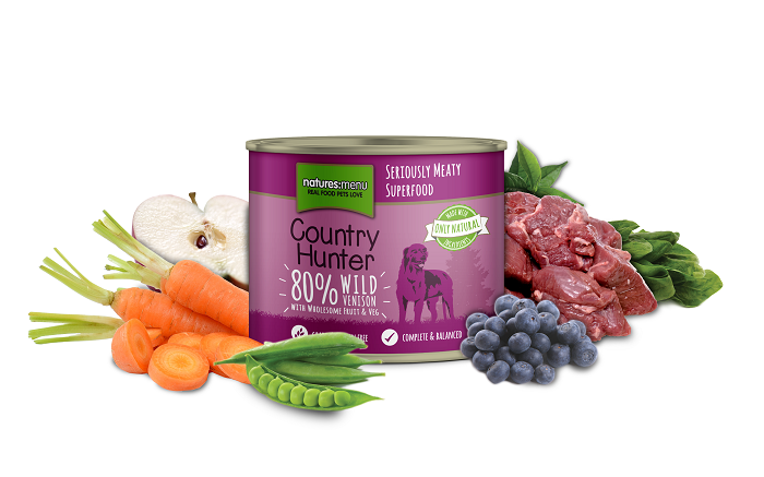 Natures Menu Country Hunter Meals Venison & Blueberry Dog Can - 600g