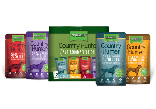 Natures Menu Country Hunter Multipack Superfood Dog Pouches 12 x 150g