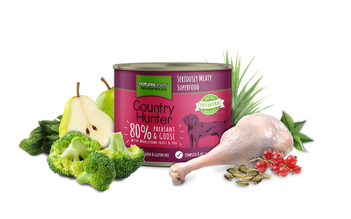 Natures Menu Country Hunter Meals Pheasant & Goose Dog Can 600g