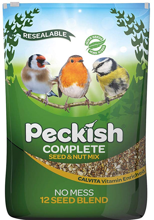 Peckish Complete Seed And Nut No Mess Wild Bird Seed Mix - 12.75kg