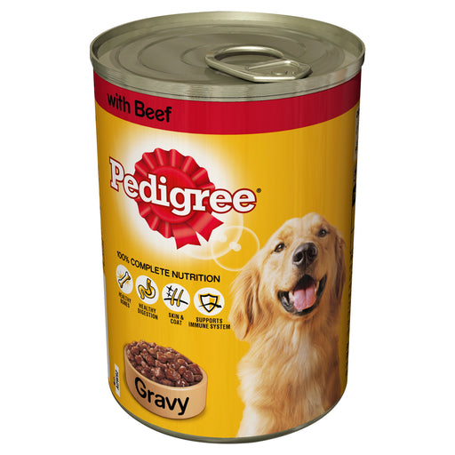 Pedigree Beef in Gravy Dog Cans 12 Pack - 400g