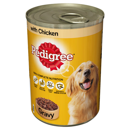 Pedigree Chicken in Gravy Dog Cans 12 Pack - 400g