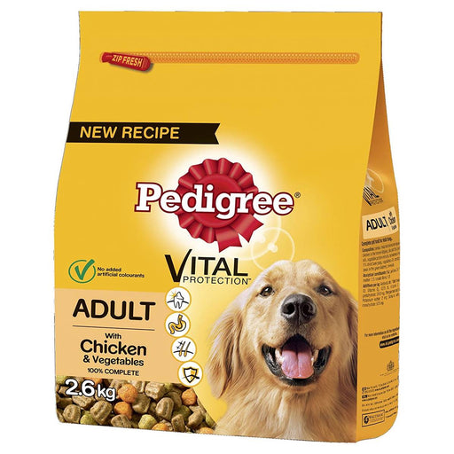 Pedigree Complete Chicken & Veg Adult Dry Dog Food - 2.6kg