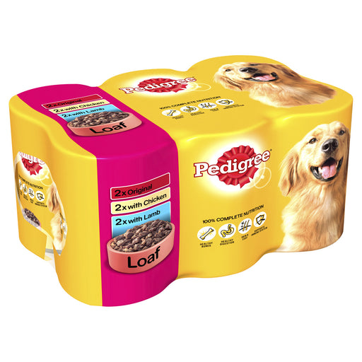 Pedigree Loaf in Jelly Dog Cans 6 Pack - 400g