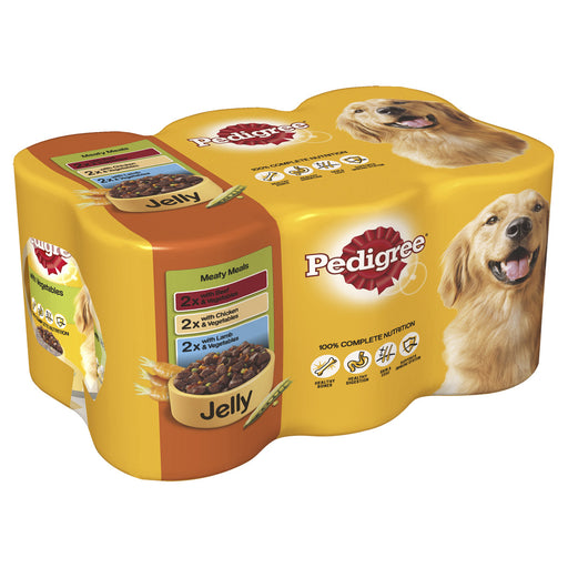 Pedigree Meaty Meals in Jelly Dog Cans 6 Pack - 400g