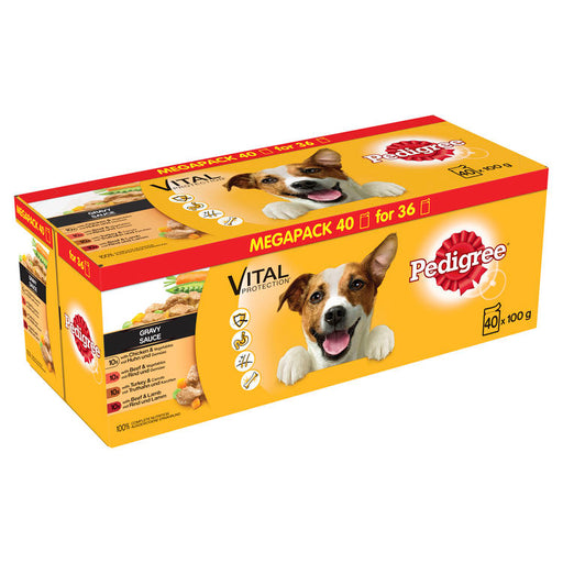 Pedigree Mixed Selection in Gravy Dog Pouches - 40 x 100g