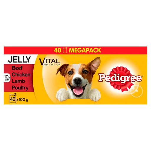 Pedigree Mixed Selection in Jelly Dog Pouches - 40 x 100g 1