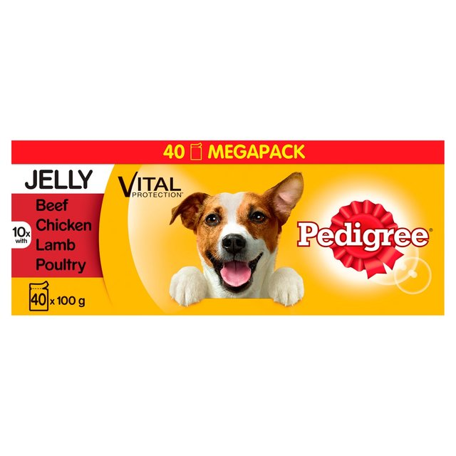 Pedigree Mixed Selection in Jelly Dog Pouches - 40 x 100g