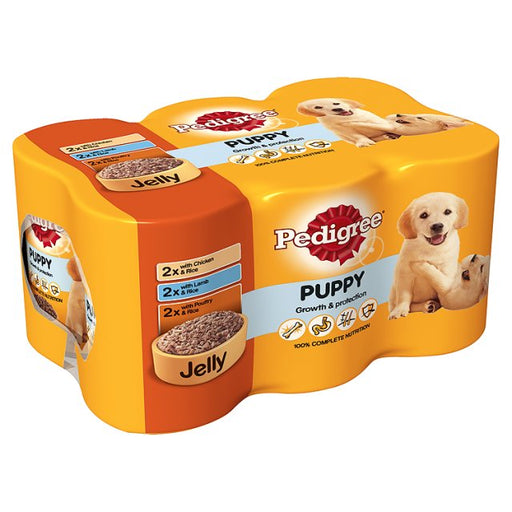 Pedigree Puppy Cans with Jelly 6 Pack - 400g
