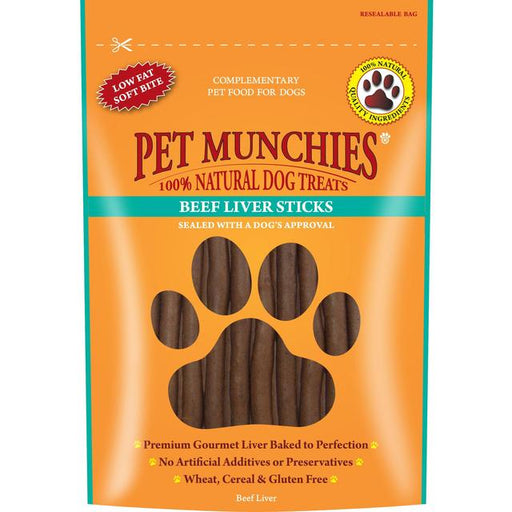 Pet Munchies Beef Liver Sticks Natural Dog Treats - 90g