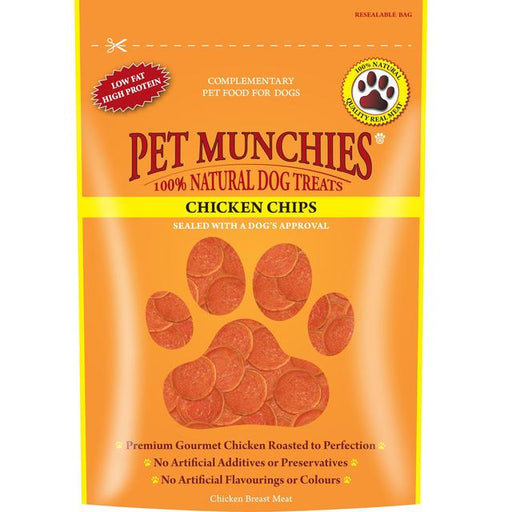 Pet Munchies Chicken Chips Natural Dog Treats - 100G