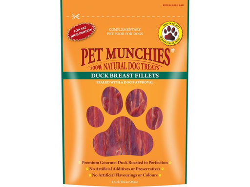 Pet Munchies Duck Breast Fillets Natural Dog Treats - 80g