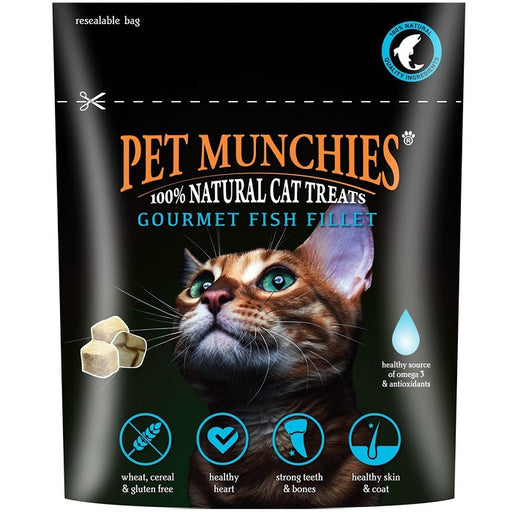 Pet Munchies Gourmet Fish Fillet Treats For Cats - 10g 1