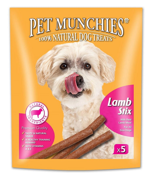 Pet Munchies Lamb Stix Natural Dog Treats - 50g