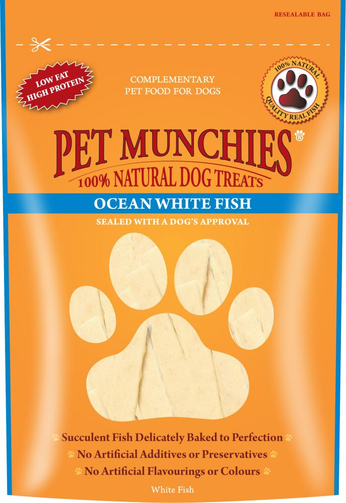 Pet Munchies Ocean White Fish Natural Dog Treats - 100g