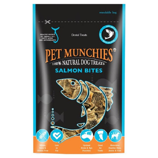 Pet Munchies Salmon Bites Natural Dog Treats - 90g 1