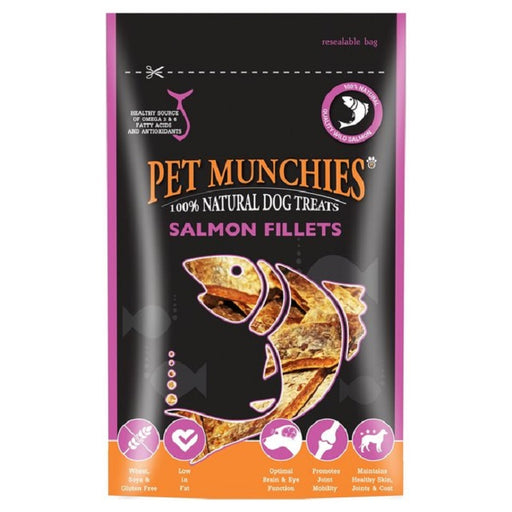 Pet Munchies Salmon Fillets Natural Dog Treats - 90g