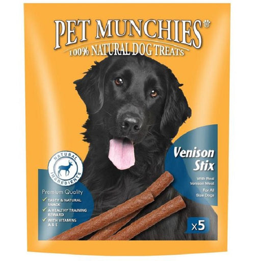 Pet Munchies Venison Stix Natural Dog Treats - 50g