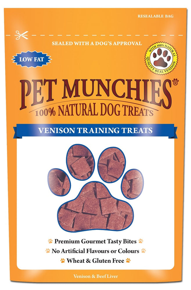 Pet Munchies Venison Natural Dog Training Treats - 50g