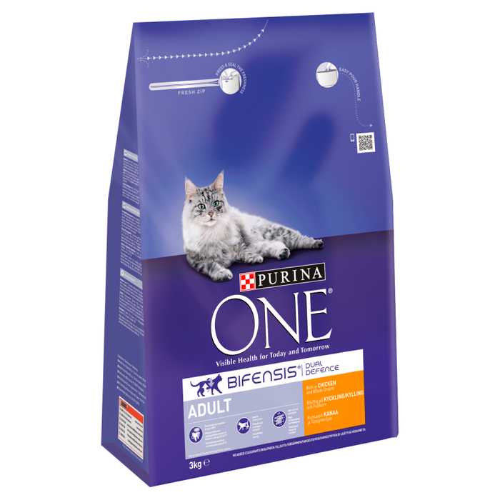 Purina ONE Adult Chicken and Whole Grains Dry Cat Food 3kg 2