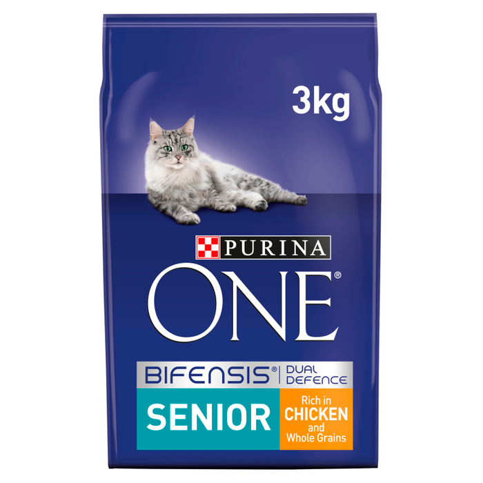 Purina ONE Senior 7+ Chicken and Whole Grains Dry Cat Food 3kg 1