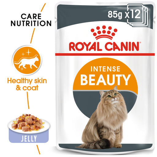 Royal Canin Feline Adult Intense Beauty in Jelly Wet Cat Food Pouches - 12 x 85g