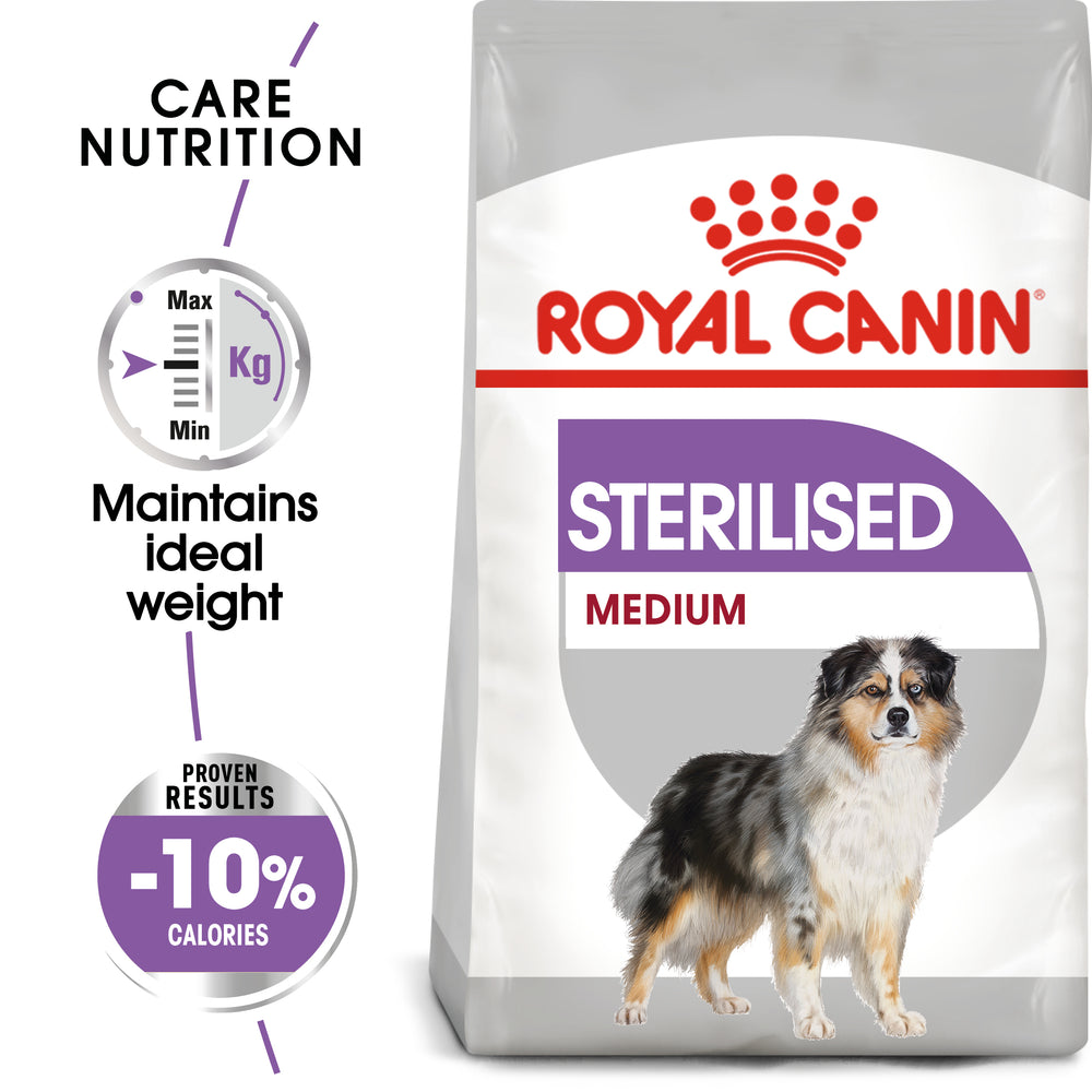 Royal Canin Medium Sterilised Care Adult Dry Dog Food - 10kg