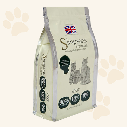 Simpsons Grain Free 90/10 Mixed Meat & Fish Dry Cat Food - 300g