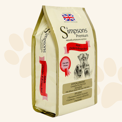 Simpsons Grain Free Chicken & Brown Rice Dry Dog Food - 2kg