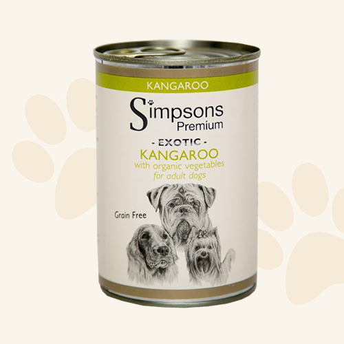 Simpsons Grain Free Kangeroo Dog Food Can - 6 x 400g
