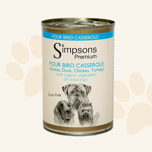 Simpsons Grain Free Four Birds Wet Dog Food - 6 x 400g