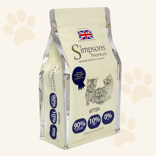 Simpsons Grain Free Kitten 90/10 Meat & Fish Dry Cat Food - 300g