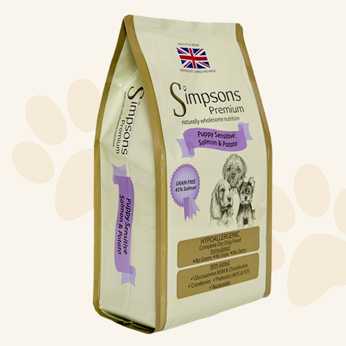 Simpsons Grain Free Puppy Sensitive Salmon & Potato Dry Dog Food - 2kg