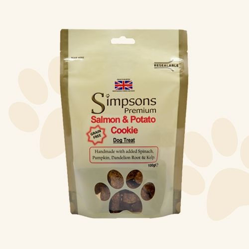 Simpsons Grain Free Salmon & Potato Cookie Dog Treat - 100g