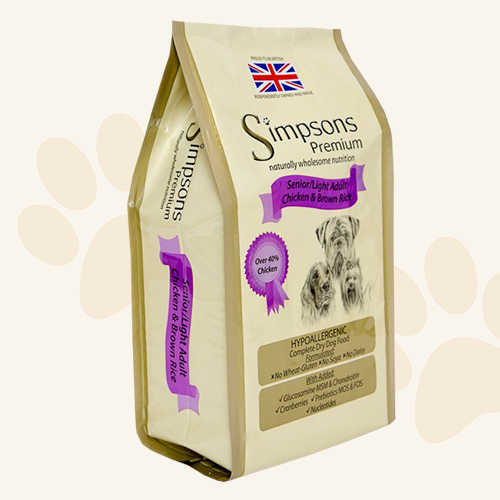 Simpsons Grain Free Senior Light Chicken & Brown Rice Dry Dog Food - 12kg