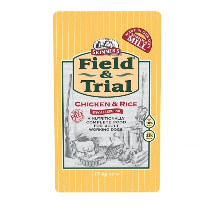 Skinner's Field & Trial Chicken & Rice Hypoallergenic Dry Dog Food - 15kg