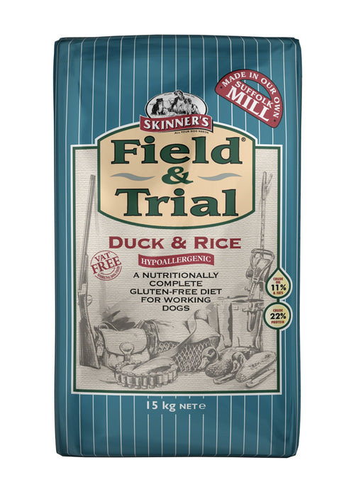 Skinners Field & Trial Duck & Rice Hypoallergenic Dry Dog Food - 15kg