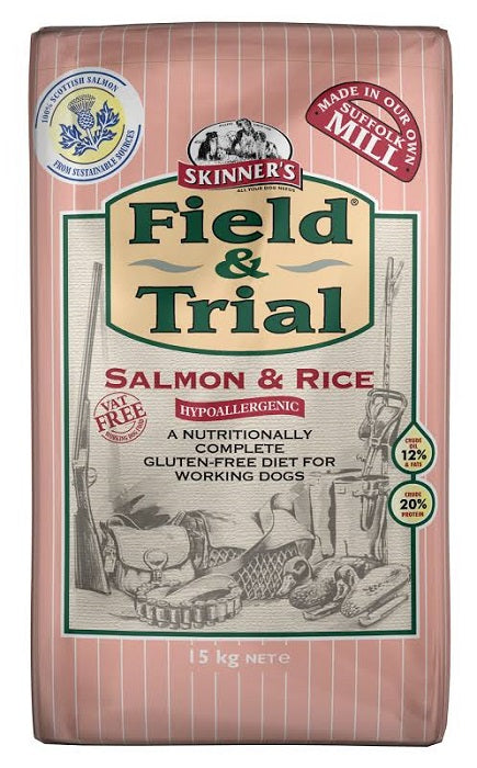 Skinners Field & Trial Salmon Rice Hypoallergenic Dry Dog Food - 15kg