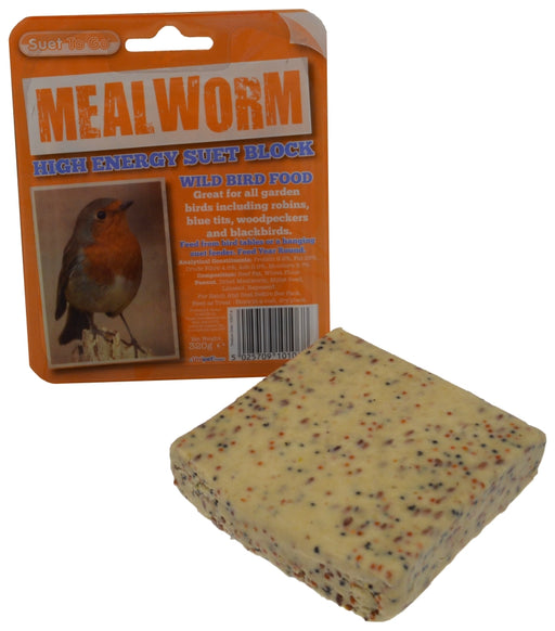 Suet To Go Mealworm Block In Tray Bird Food - 320g