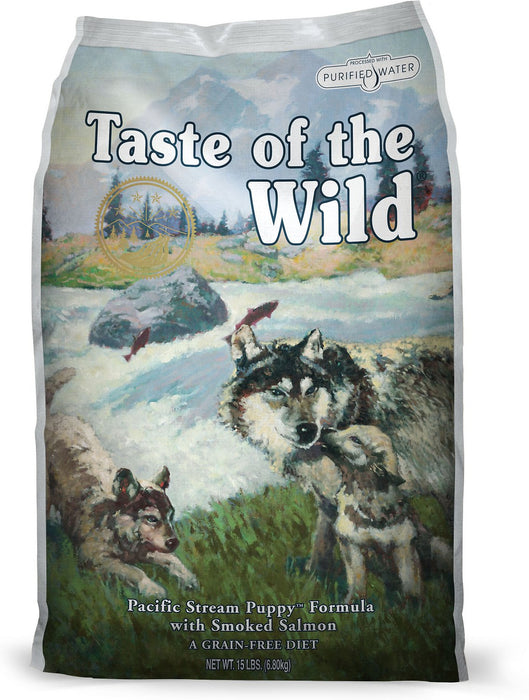 Taste of the Wild Pacific Stream with Smoked Salmon Puppy Food - 12.2kg