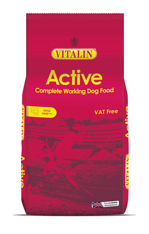 Vitalin Active Dry Dog Food - 15kg