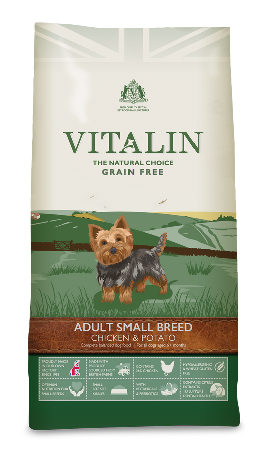 Vitalin Small Breed Grain Free Adult Dry Dog Food - 6kg