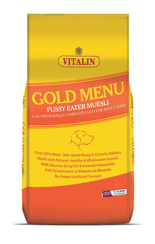 Vitalin Gold Menu Fussy Eater Dry Dog Food - 15kg