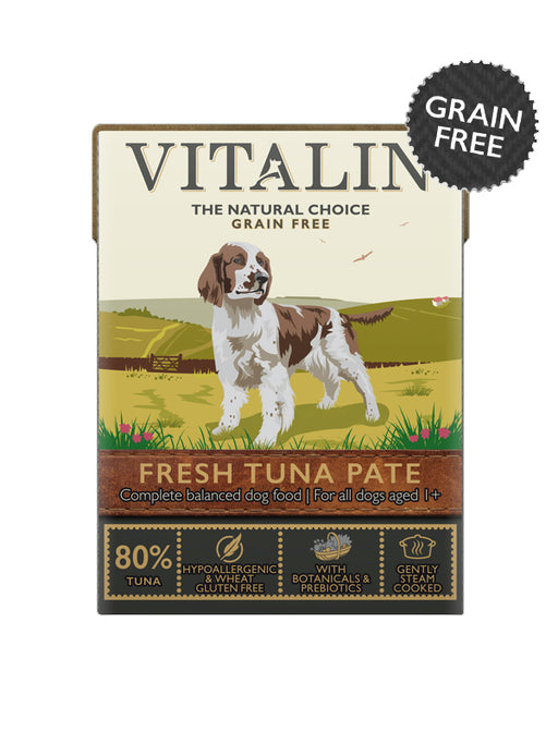 Vitalin Grain Free Tuna Pate for Dogs 375g