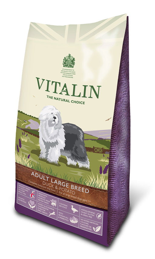 Vitalin Natural Grain Free Duck & Potato Dry Dog Food - 2Kg