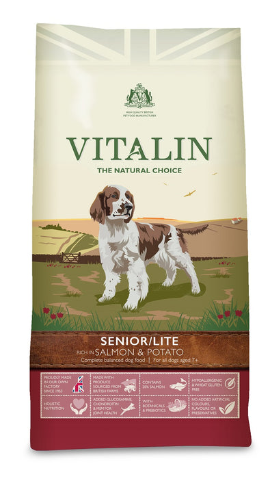 Vitalin Salmon & Potato Senior/Lite Dry Dog Food 2kg
