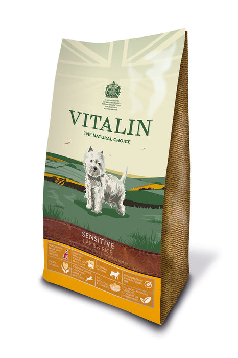 Vitalin Natural Lamb & Rice Dry Dog Food 12kg