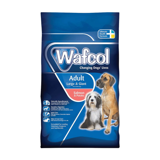 Wafcol Adult Salmon & Potato Large/Giant Dry Dog Food - 12kg